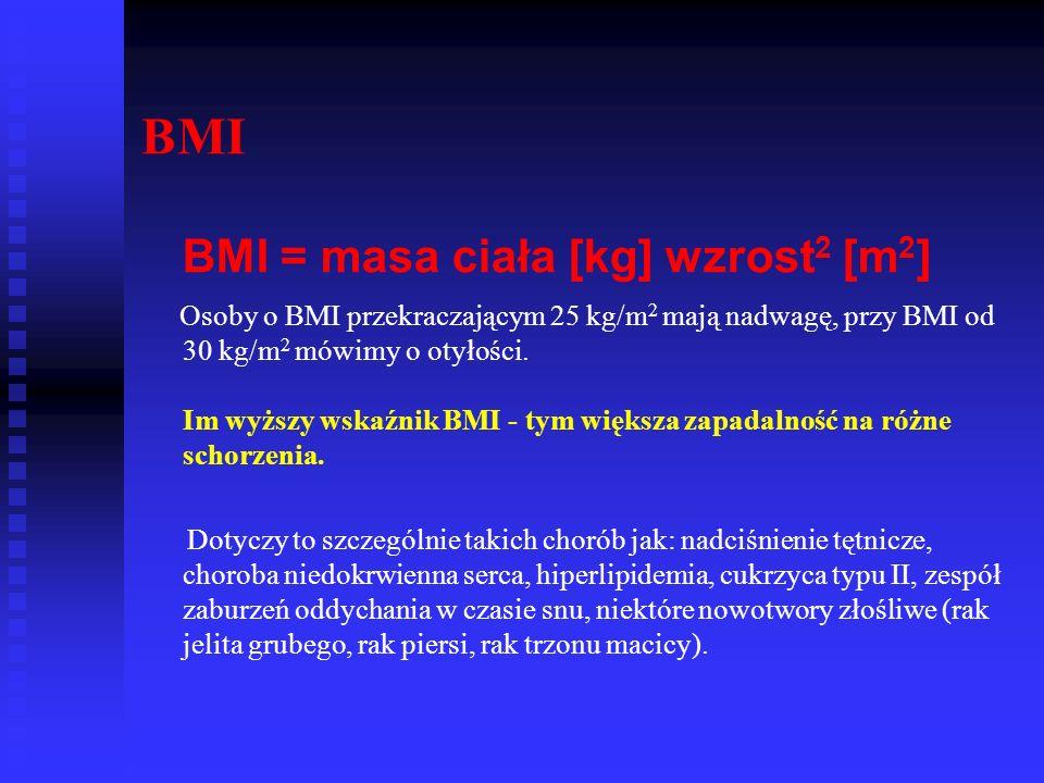 BMI BMI = masa ciała [kg] wzrost2 [m2]